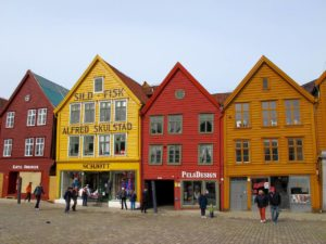 Bergen old houses at the waterfront