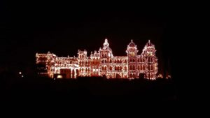 Mysore Palace Lighting during Dussehra