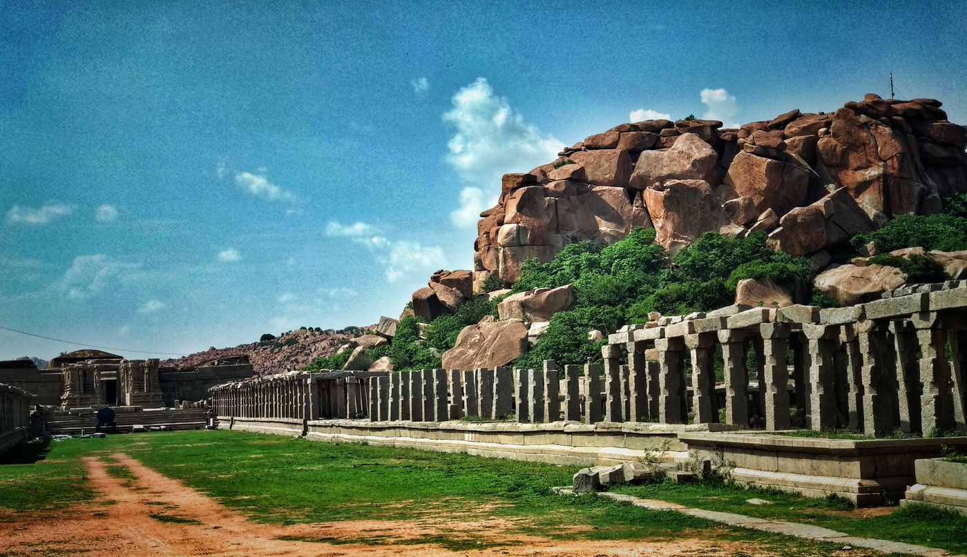 Outside Vittal Temple, Hampi